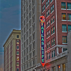 Atlas Building, Tulsa, Ok by Beckie Caughman - Buildings & Architecture Office Buildings & Hotels ( tulsa, building, hdr, night, downtown )