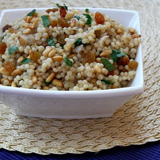 Israeli Couscous with Pine Nuts and Parsley