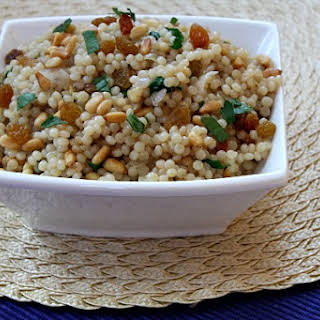 Israeli Couscous with Pine Nuts and Parsley.