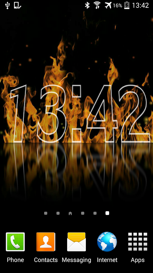 Fire Clock Live Wallpaper - screenshot