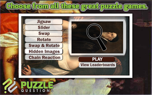 Free Titian Puzzle Games