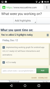 RescueTime Time Management - screenshot thumbnail