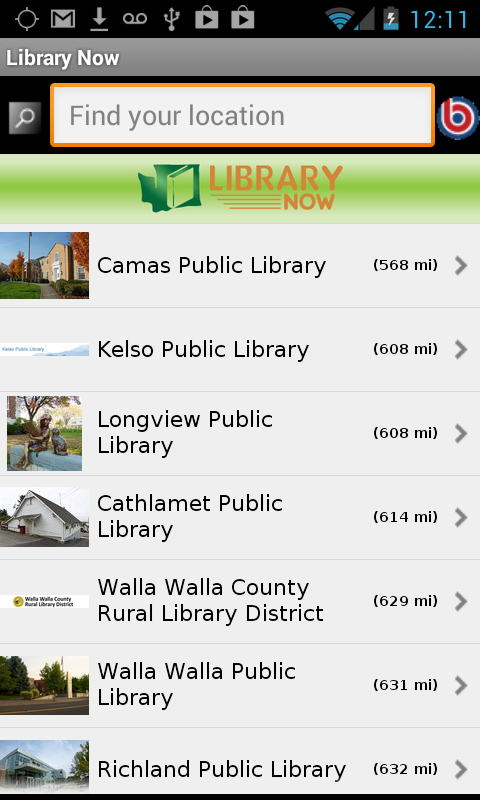 Washington State Library Now- screenshot
