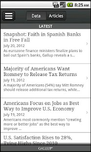 Gallup News - screenshot thumbnail