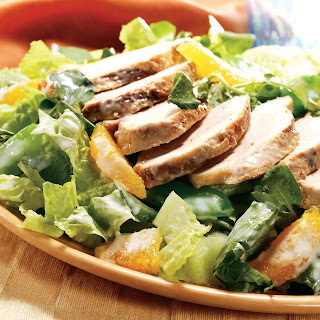 Warm Gingered Chicken Salad with Crispy Greens Recipe