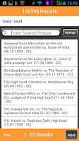 Screenshot of Manupatra for Android