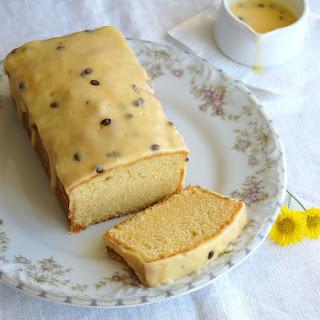 Fresh Orange Pound Cake With Passion Fruit Icing.