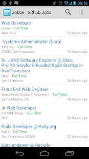 Jobbe : Github Jobs Finder- screenshot thumbnail