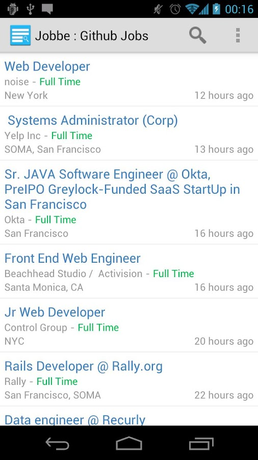 Jobbe : Github Jobs Finder- screenshot