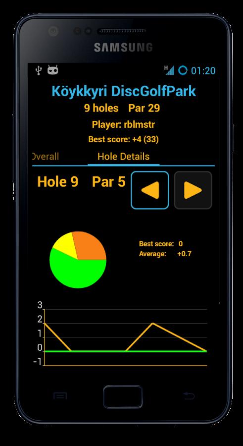 Disc Caddy 2 - Disc Golf app- screenshot