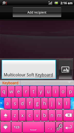 Multicolor Soft Keyboard Free
