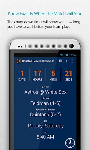 Houston Baseball Schedule Pro