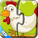 Kids Puzzles -Colorful farm hd icon