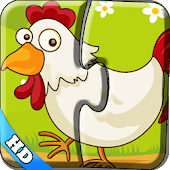 Kids Puzzles -Colorful farm hd