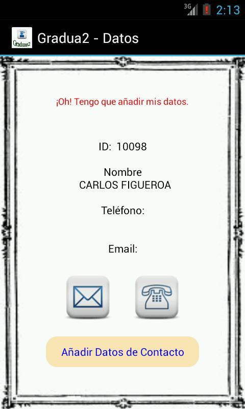Graduados - screenshot