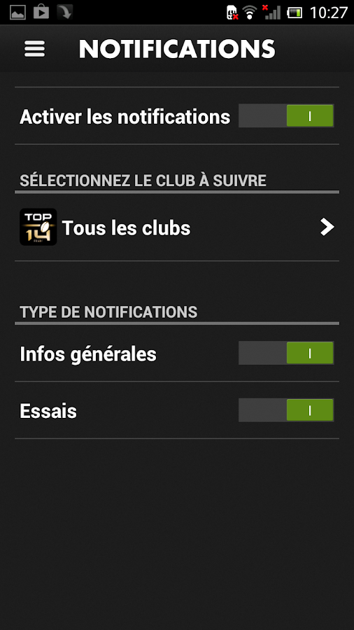 CANAL RUGBY APP - screenshot