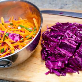 Miso Cabbage Salad.