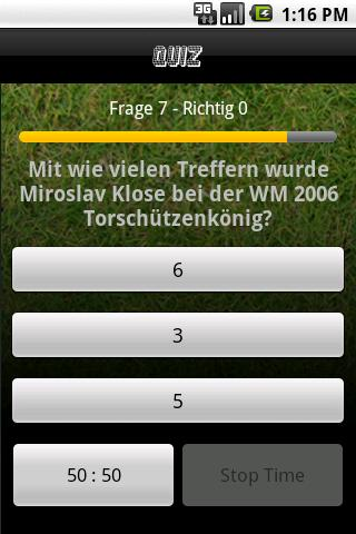 FussballQuiz - screenshot