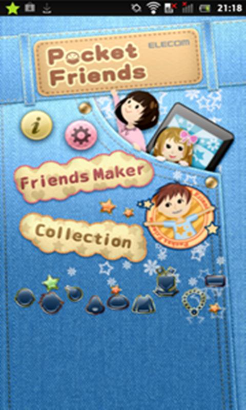 Pocket Friends (Cute widget)- screenshot