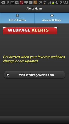 WebPage Alerts