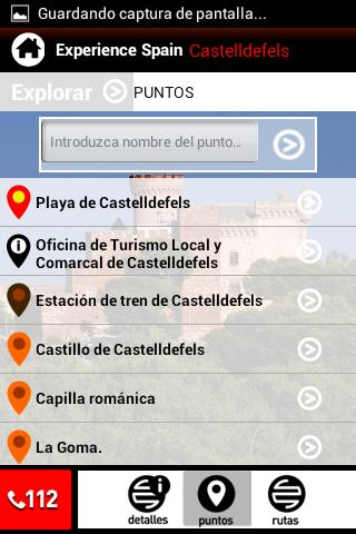 Experience Spain Castelldefels: captura de pantalla
