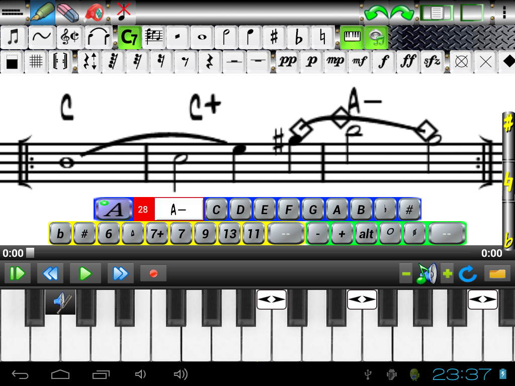 Music Score Pad-Free Notation- screenshot