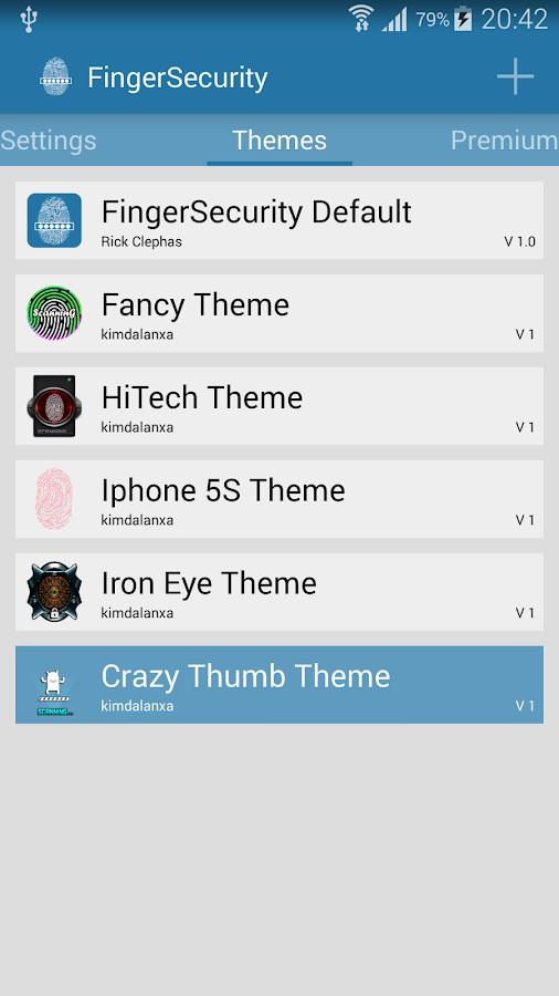 FingerSecurity - screenshot