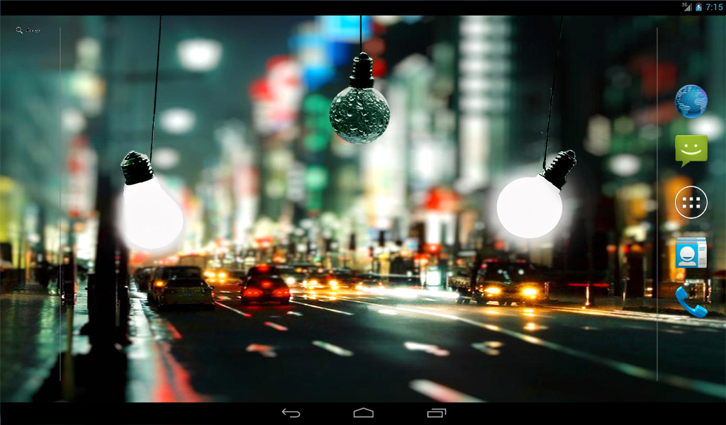 Bulbs In Rain Live Wallpaper- screenshot