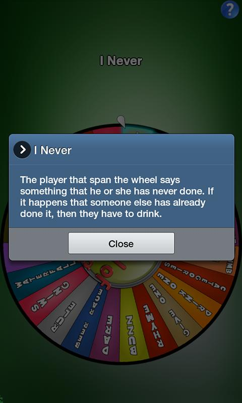 Wheel of Drinking - screenshot