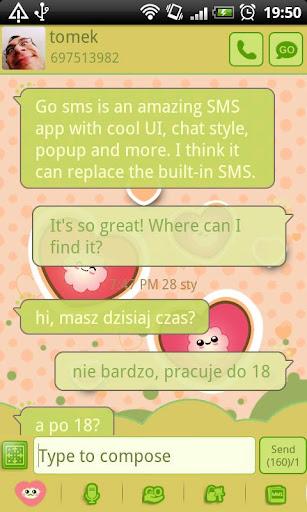 GO SMS Pro Funny Hearts Theme