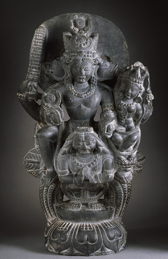 Vishnu and Shri Lakshmi on Garuda