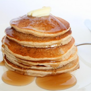 Vegan Banana Oatmeal Pancakes.