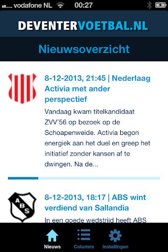 Deventer Voetbal App
