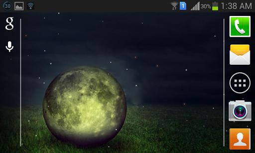Fireflies Moon Live Wallpaper