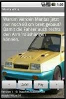 Screenshot of Manta Witze