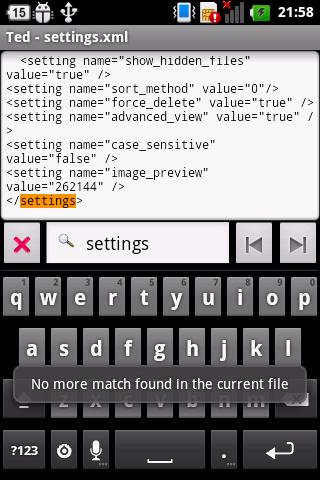 Ted (Text Editor) Release 1 8 1 (Android) - Download APK