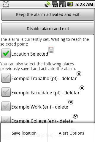 Alarm GPS Free - screenshot