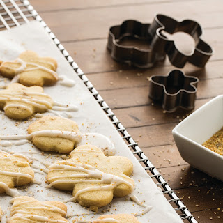 Orange Cut-Out Cookies with Orange Cardamom Icing