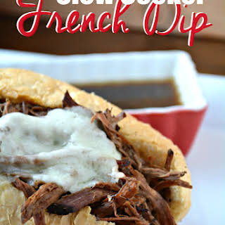 Slow Cooker French Dip Sandwiches with Au Jus Sauce.