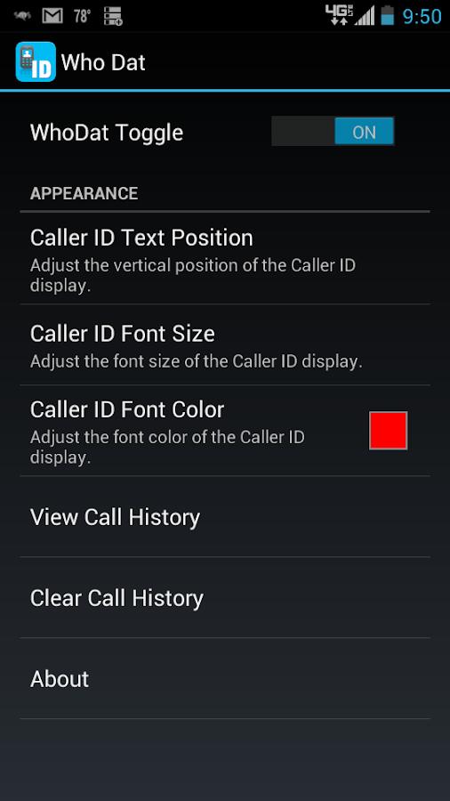 Who Dat? - Caller ID Lookup- screenshot