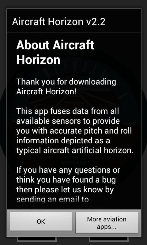 Aircraft Horizon Free- screenshot