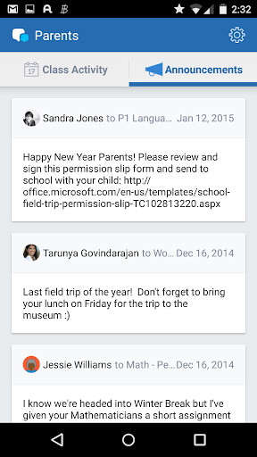 Edmodo for Parents Screenshot