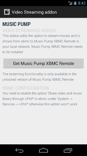 Music Pump Streaming Addon