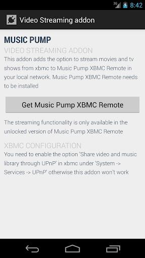 Music Pump Streaming Addon