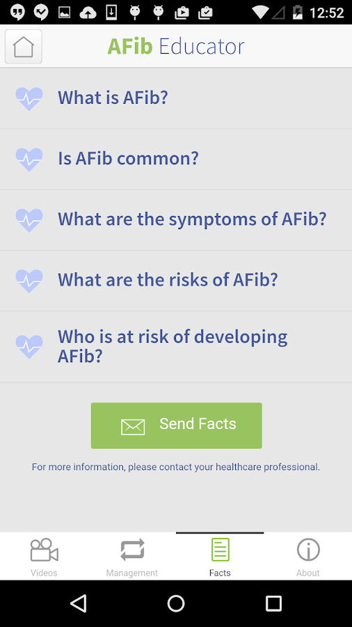 AFib Educator - screenshot