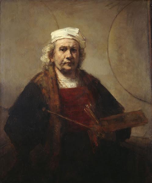 Autoportrait avec deux cercles