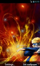 Another Awesome Naruto And Sasuke Live Wallpaper Now In Your Android Theyre Clashing With They Own Power Orange Glow Blue