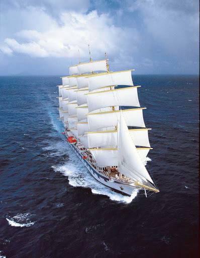 Royal-Clipper-at-sea-2 - Book a cruise aboard Royal Clipper for the cruise and sailing experience of a lifetime.