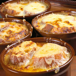 Traditional French Onion Soup.