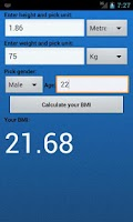 Screenshot of BMI Calculator